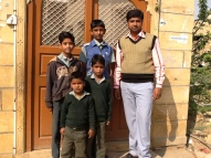 boys from the puppet colony at Lal bahsru Shastri primary school