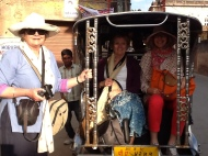Gypsy queens in their embellished tuk tuk