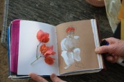 Jai Sing in Roop Niwas Garden, and in Fay's sketchbook.