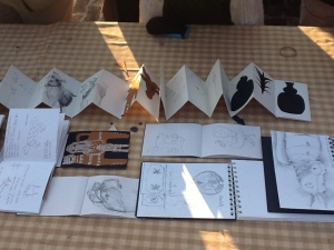 Sanskriti workshop sketchbooks