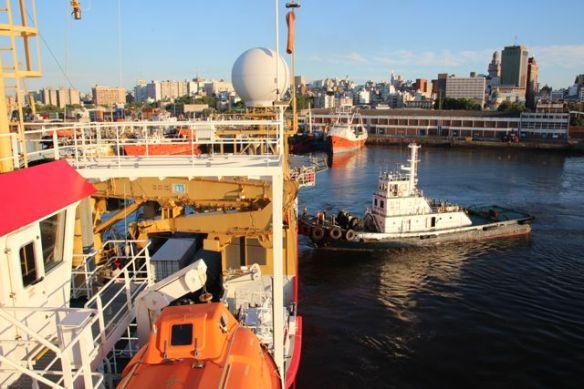 2. ship departing
