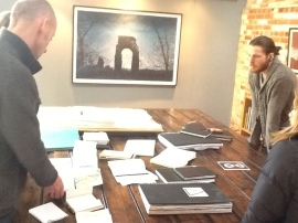 Selecting the sketchbooks for 'Visual Journey's'