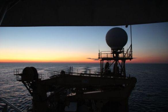 22. Ship sunset