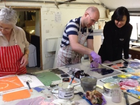 Rob helping at the ink bench