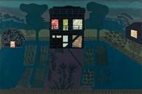 Tom Hammick Compound Night, woodcut