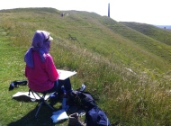 Dee drawing at Cherhill