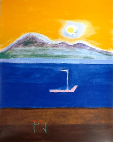 Craigie Aitchison Goatfell Isle of Arran, Silkscreen