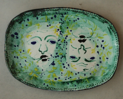 John Piper, Foliated Heads. Terracotta ceramicmic