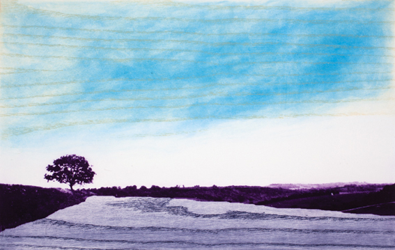 Sara Lee 'The Keeper' Intaglio and woodcut print