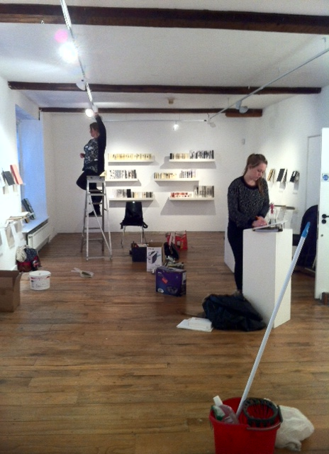 Sketch Setting up at Black Swan