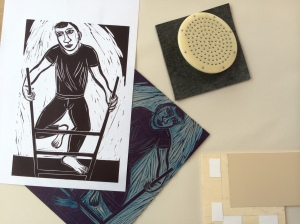 New linoprint by Eileen Cooper RA to be printed live at Multiplied 2014 on Sunday 19 October