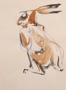 NP65 Nik Pollard, Brown Hare Series 10 28 x 38cm_web