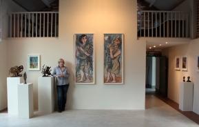 Eileen Cooper RA 'Garden' exhibition at Rabley Drawing Centre