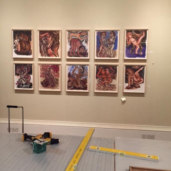 A sneak peek of the exhibition hang!