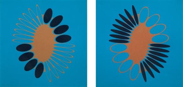 JH31 Jane Harris 'Gleamers' Bronze Diptych 75 x 35cm WEB SIZE