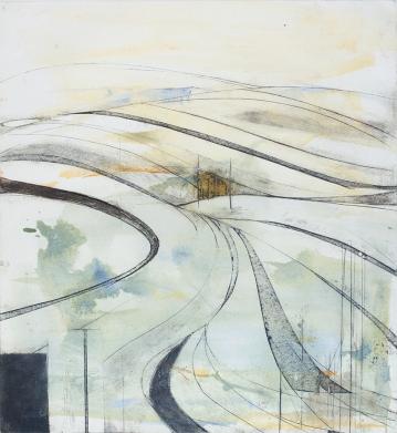 Amanda Ralfe, 'Wiltshire Landscape', Photopolymer gravure & hand painting