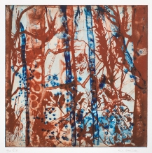 Ann Saxton, 'Forest Red', Photopolymer Gravure