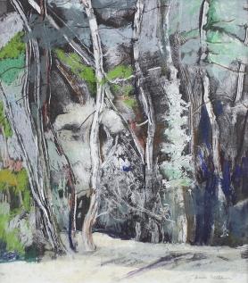 Jean Stibbon, 'Trees, Benvenuti I', Monotype & pastel
