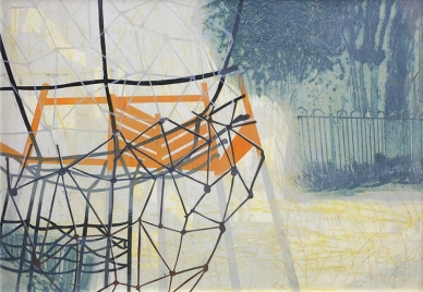 Pam Hardman, 'Play Park I', Collagraph