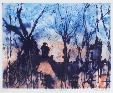 Suzy Miles, 'Capstone Sunset', Photopolymer Gravure