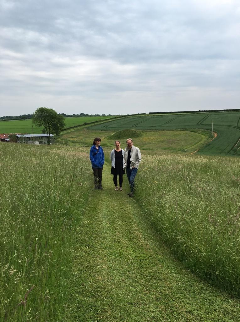 Katherine Jones with Sara Lee exploring Rabley environs.