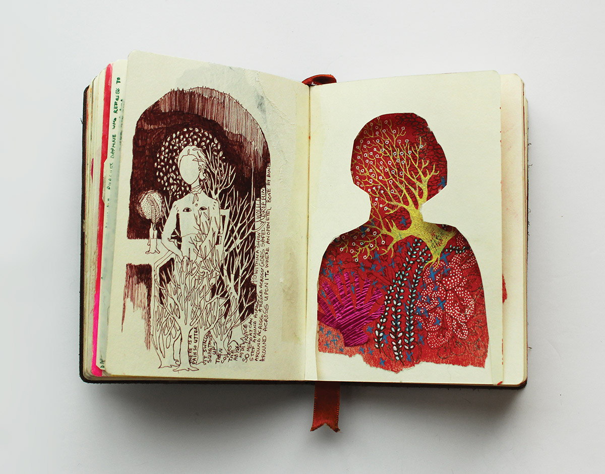 Chitra Parvathy Merchant, sketchbook page