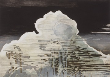 Katherine Jones, A Stony Weigh of Cloud, collagraph and block print on paper, 72 x 96 cm, edition of 25
