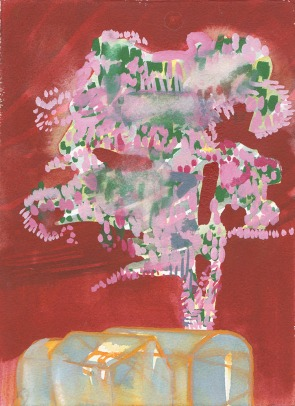 Katherine Jones 'Tree (red)' 2018, Watercolour, 25 x 18 cm