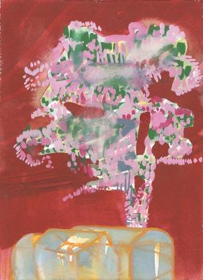 Katherine Jones 'Tree (red)' 2018, Watercolour, 25 x 18 cm