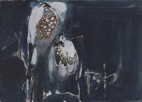 Katherine Jones 'Luminous Flower 2018', Watercolour, 19.5 x 27 cm
