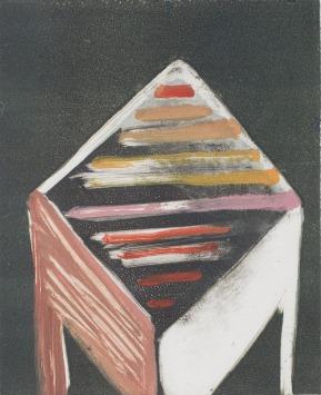 Katherine Jones 'Slat II' 2018, Monoprint, 32.5 x 28.5 cm