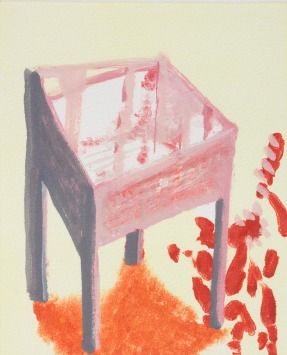 Katherine Jones 'Stove Frame II' 2018, Monoprint, 32.5 x 28.5 cm