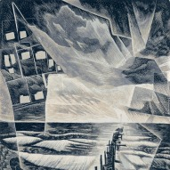 Neil Bousfield 'Cold Cold Sea 15-20 Minutes', 2016 (detail), Engraving