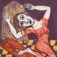 Eileen Cooper 'Red Dress'