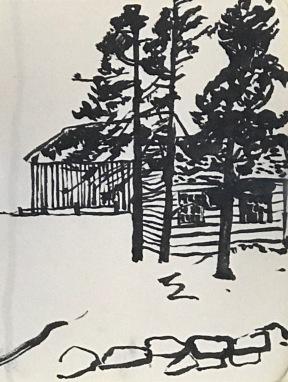 Island in Maine sketch