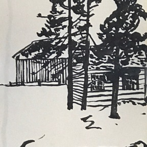 Island in Maine sketch