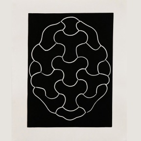 Peter Randall-Page 'Weft and Warp', Linocut