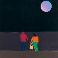 Tom Hammick 'Moonlight', 2018, Reduction woodcut, 69 x 52cm, Edition variable of 15
