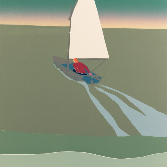 Tom Hammick 'Dawn', 2018, Reduction woodcut, 69 x 52cm, Edition variable of 15